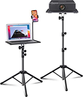 Laptop Tripod, Laptop Stand, Projector Tripod Stand with Gooseneck Phone Holder, Adjustable Height & Foldable Music Stand,...