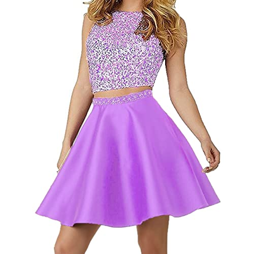 09bd58ed0f4 Little Star Satin Homecoming Dresses Short Two Piece for Juniors A Line Prom  Party Ball Gowns
