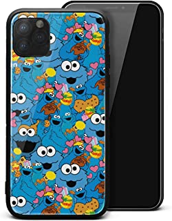 Compatible iPhone 11 Pro Case Cookie-Monster-Me-Want-Om-Nom-Muppet-Children's-TV- Style Tempered Glass Shockproof Anti-Scratch Durable TPU Protective Case for iPhone 11 Pro 5.8 Inch