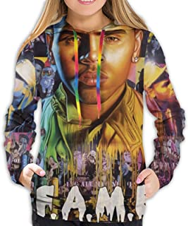 RobertRCastleberry Chris Brown F.A.M.E. Women`s Hoodie Sweatshirt Jacket Leisure Hoodies Sweater Hooded Shirt