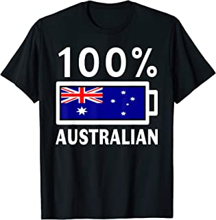 Australia Flag | 100% Australian Battery Power Tee T-Shirt