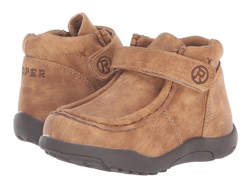 Roper Kids Moc (Toddler) (Tan Faux Leather) Boys Shoes