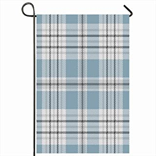 Onete Garden Flag 28x40 Inches Tartan Pastel Plaid Pattern Traditional Check Retro Mat Square Border Faded for Checkered Textures Outdoor Seasonal Home Decor Welcome House Yard Banner Sign Flags