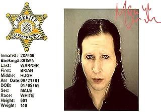 Engravia Digital Marilyn Manson Mug Shot Poster Reproduction Autgraph Photo A4 Print(Unframed)