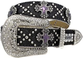 1323 Exotic White Brindle Cowhide Belts Cowgirl Bling Belts Rodeo Belts Plus Size Western Belts For Cowgirls