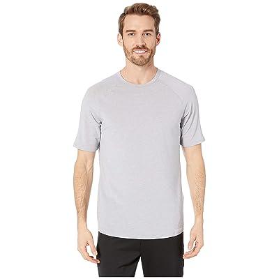 Under Armour Recovery Sleepwear Short Sleeve Crew (Mod Gray Fade Heather/Metallic Silver) Men