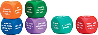 Learning Resources Writing Prompt Cubes, Writing Games, Classroom or Homeschool Supplies, Ages 6+