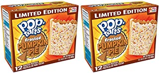 Pop-Tarts Breakfast Toaster Pastries, Frosted Pumpkin Pie Flavored, Limited Edition, 21.1 oz, 12 Count,(Pack of 2)