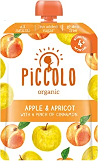 Piccolo Apple & Apricot with Cinnamon, Yellow, Small, 5count