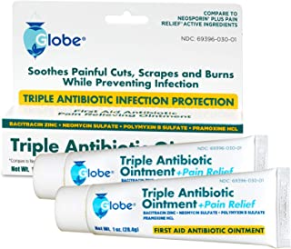 Triple Antibiotic + Pain Relief Dual Action Ointment, 1 Oz (2 - Pack)
