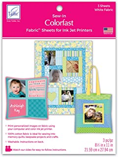 June Tailor Colorfast White Printer Fabric (3 Pack)