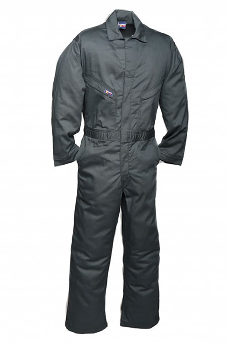 LAPCO CVFRD7SG-SM TL Lightweight 100-Percent Cotton Flame Resistant Deluxe Coverall, Spruce Green, Small, Tall