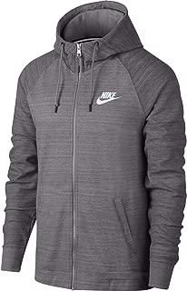Nike Mens AV15 Full Zip Knit Hoodie Gunsmoke Grey/White AQ8391-036 Size 2X-Large