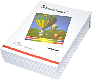 FIS International Exercise Books, 5 mm Square, 160 Pages, Pack of 10 Pieces, A4 Size - FSEB5A4INT80