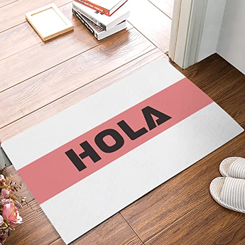 0fe814a95147 HomeCreator 18 x 30 Inch Hola Spanish Welcome Door Mats Kitchen Floor Bath  Entrance Rug Mat
