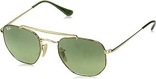 RB3648 The Marshal Square Sunglasses, Havana/Green Gradient, 51 mm