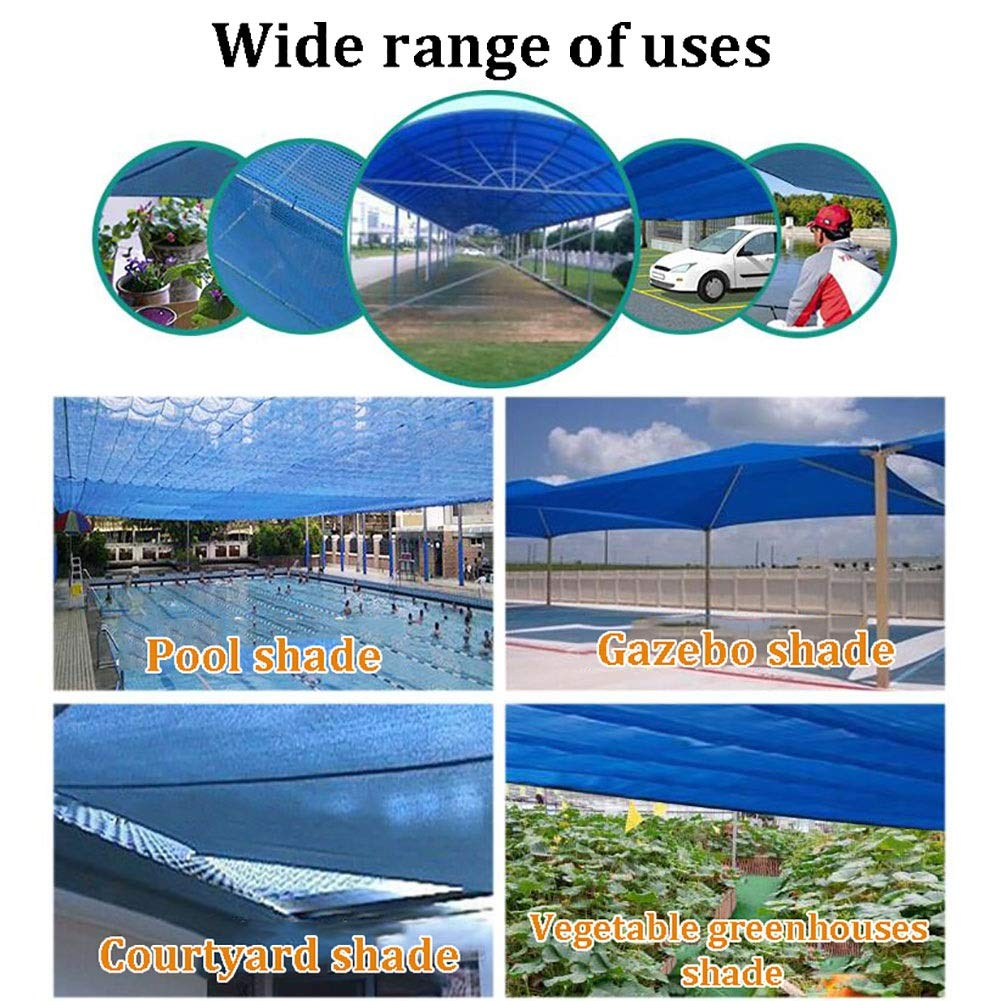 ZAY Paño de Sombra para El Porche de la Piscina del Patio de la Pérgola, 90% de Protección Solar Resistente a Los Rayos UV Red con Ojales, Easy Setupa (Size : 2M×6M):