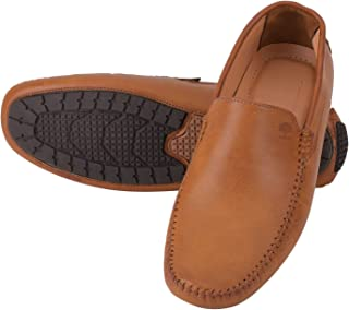 Fashionvila Men's Tobacco Synthetic Loafers Shoes