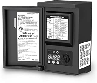 GOODSMANN 200 Watt Power Pack with Sensor and Weather Shield for Low Voltage Landscape Lighting and