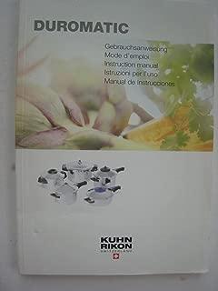 Duromatic Pressure Cooking Manual