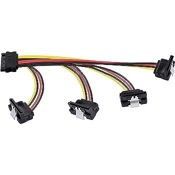 4 Fach Y-Adapter SATA Strom Winkel deleyCON C/âble SATA donn/ées et alimentation Strom