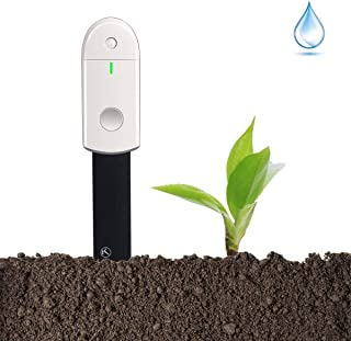 Diwenhouse Soil Moisture Meter Test Kit - Waterproof Soil Water Monitor Hygrometer for Indoor Plants Gardening Pot Flowers, Led Lights Instant Detection
