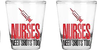 Nurses Need Shots Too - Funny Birthday Gift for Nurses- 1.75 OZ Shot Glass (2)