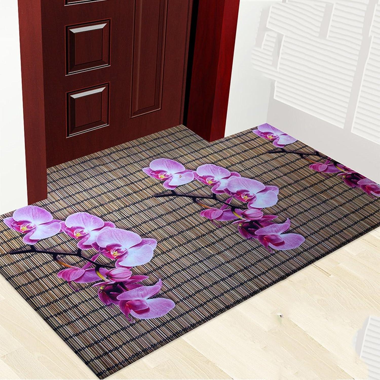 3D color printing plant flower mat mat,Carpet non-slip foot mat Indoor mat [hall] Home door Door mats-E 80x120cm(31x47inch)