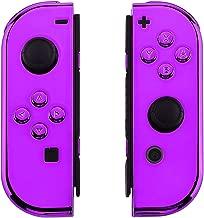 Chrome Purple Switch Custom Joy-Con's Controllers Unique Design