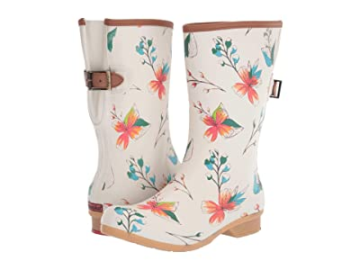 Chooka Tropics Bainbridge Adjustable Mid Boot (Cream) Women