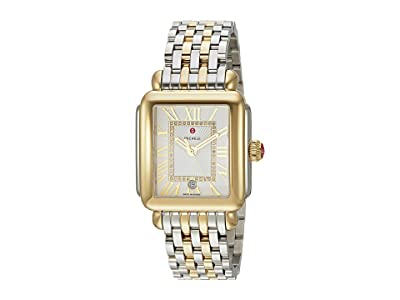 Michele Deco Madison Two-Tone, Diamond Dial Watch (Two-Tone Silver/Gold) Watches
