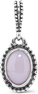 Carolyn Pollack Sterling Silver Multi Oval Gemstone Choice of 4 Different Colors Charm Pendant Enhancer