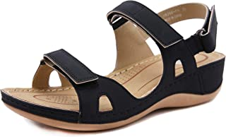 CELANDA Open Toe Sandals Ladies Premium Orthopedic Platform Sandals