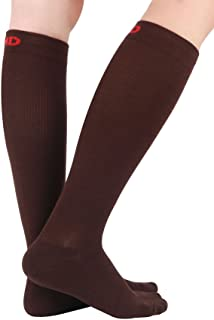 MD 3 Pairs Thick Winter Bamboo Travel Compression socks For Men & Women: Mild 8-15mmHg Graduated Support Stockings - Helps Relieve Tired Legs and Feet