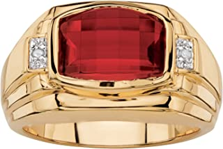 mens ruby rings 14k gold