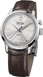 Vulcain - Cricket 50s Presidents Reloj para Hombre Analógico de Mecánico de Cuerda Manual con Brazalete de Piel de cocodrilo 100153.295L