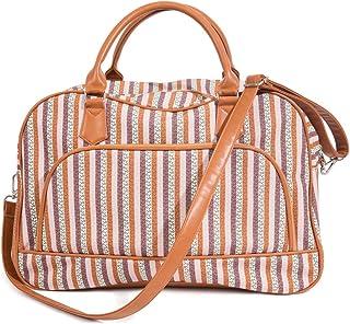 Ladies Women Canvas Weekender Bag Travel Duffel Tote Bag Weekend Overnight Travel Bag