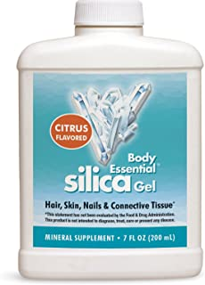 Body Essential Silica Gel, Mineral Supplement for Nails Hair Skin & Connective Tissue, 7 Fluid Ounce (200 ml)