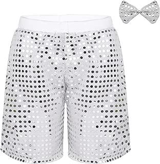 inhzoy Pantalones Cortos de Danza Yoga para Ni/ña Shorts Deportivos de Gimnasia Fitness Charol Met/álico Cintura Alta Ropa de Baile Moderno Hot Shorts