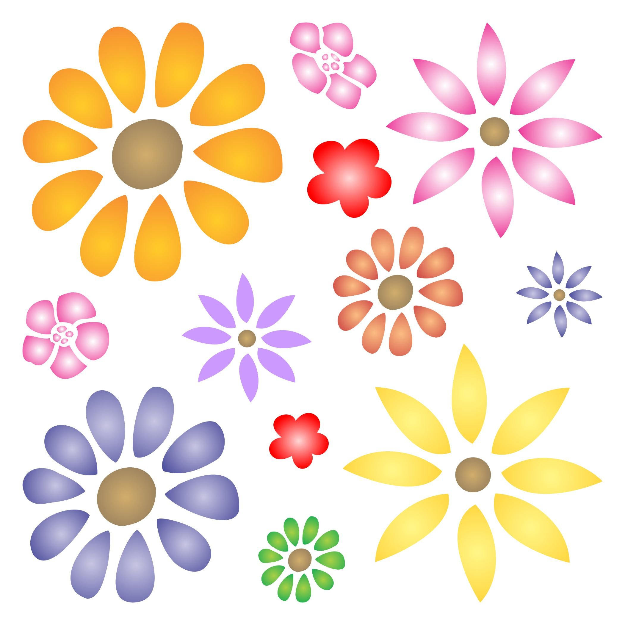 Floors Fabric Flower Power Stencil size 9w x 9h Reusable Stencils for Painting Best Quality Scrapbooking Valentines Ideas Use on Walls