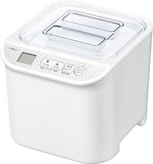 [山善] ヨーグルトメーカー 飲むヨーグルト 「簡単お手入れ いつでも清潔」 温度調整機能付き 低音調理対応 レシピブック付き 発酵食メーカー ホワイト YXA-100(W) [メーカー保証1年]