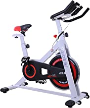 Soozier Exercise Bike Aerobic Training Indoor Cycling Stationary Cardio Workout Home Flywheel Fitness Racing Machine