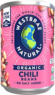 Westbrae Natural Organic Chili Beans, 15 Ounce Cans (Pack of 12)