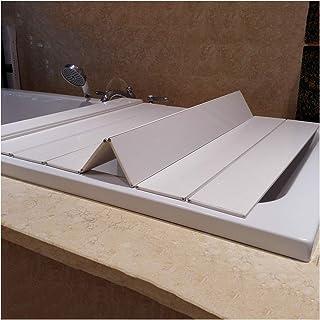 ZHANWEI 浴槽カバー 防塵ボード 風呂ふた,防塵 断熱カバー、 バススタンド 折りたたみ式、 バスルームの棚 (Color : White, Size : 175x75x0.6cm)