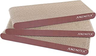 AMZNOVA Cat Scratcher Cardboard Scratching Pads Scratch Lounge Sofa Bed, Wood Floor Print