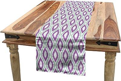 Fine Amazon Com Ambesonne Ikat Table Runner Aztec Culture Inzonedesignstudio Interior Chair Design Inzonedesignstudiocom