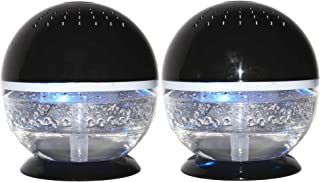 EcoGecko 2 Units Little Squirt Glowing Water, Air Revitalizer, Air Freshener, Room Aromatizer, Aromatherapy, Aroma and Essential Oil Diffuser with 10ML Lavender Oil, Black