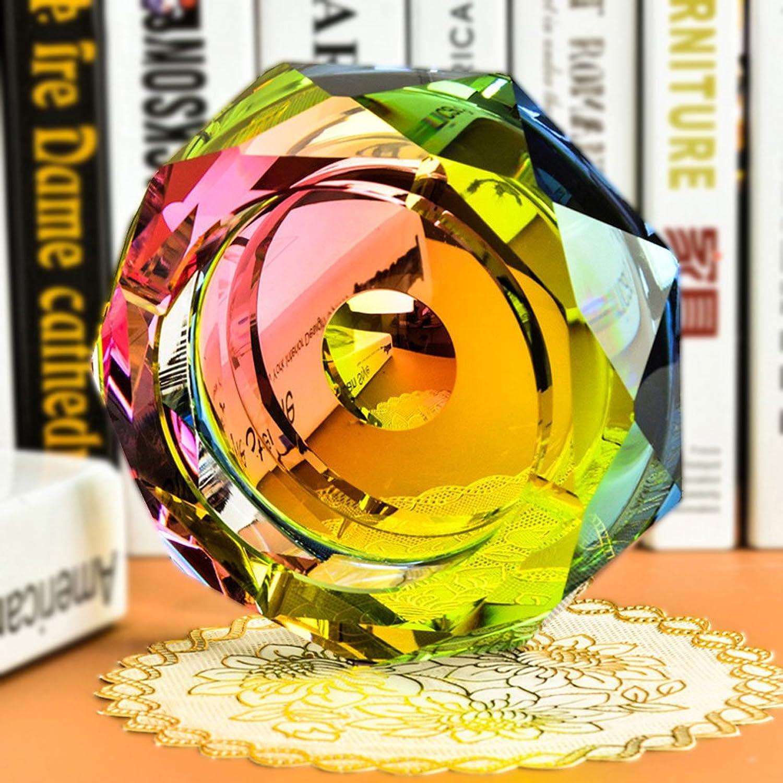 Aschenbecher KKY-Enter Farbe Kristallglas Mode Kreative Persönlichkeit Geschenk Octagon Wohnzimmer Hotel Club, Raucher geben (größe   18  18  4cm) B07DJ7QBRF