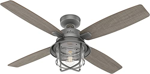 high quality Casablanca online Fan Company 50390 Port Royale Ceiling Fan, 52, online Matte Silver Finish online sale