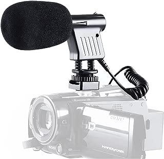 BOYA BY-VM01 Micrófono de condensador direccional de bajo ruido con montaje amortiguado integrado y parabrisas para Nikon D800 D3300 Canon 5D3 EOS T6i Videocámara Sony A9 DSLR DV